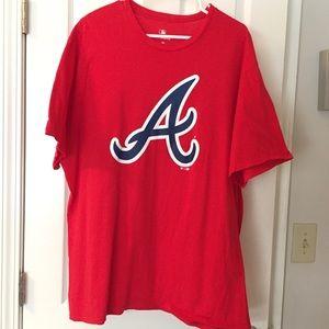Red Atlanta Braves Graphic MLB Tee